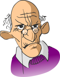 Old man, cartoon